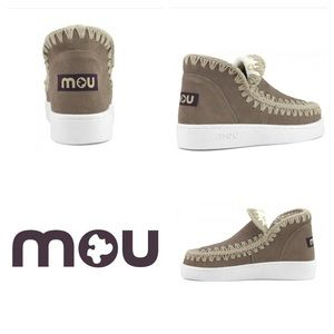 Mou Eskimo Sneaker Boots In Perforated Suede 7